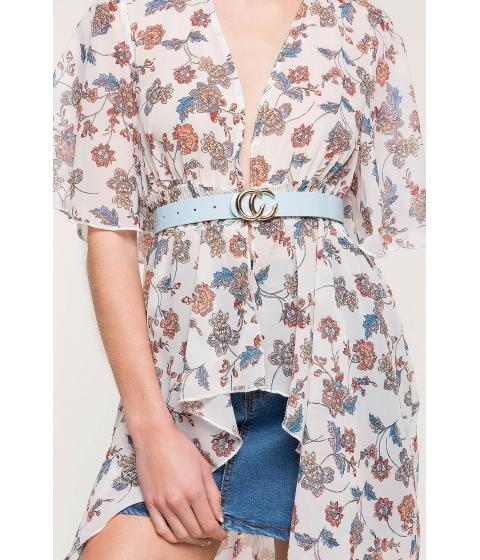 Accesorii Femei CheapChic C The Dream Patent Jean Belt Pastel Blue