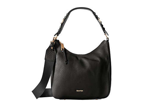 Genti Femei Calvin Klein Pebble Hobo BlackSilver