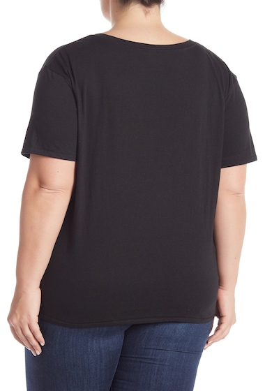 Imbracaminte Femei BP V-Neck Short Sleeve Tee Plus Size BLACK