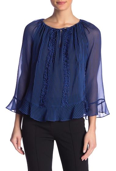 Imbracaminte Femei Diane Von Furstenberg Simonia Striped Silk Blouse EMORY STRIPE COBALT