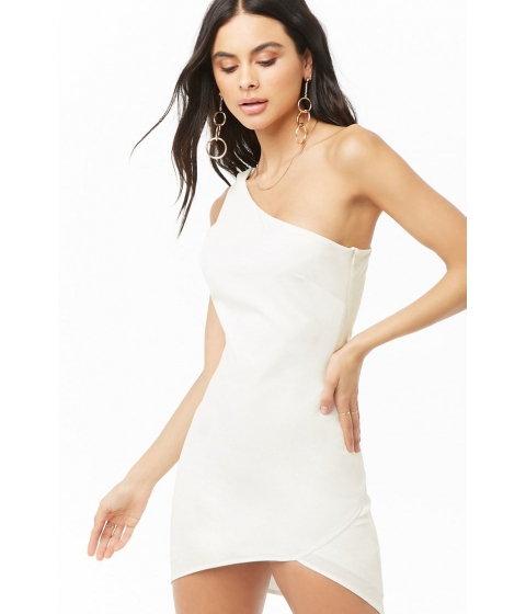 Imbracaminte Femei Forever21 One Shoulder Mini Dress WHITE