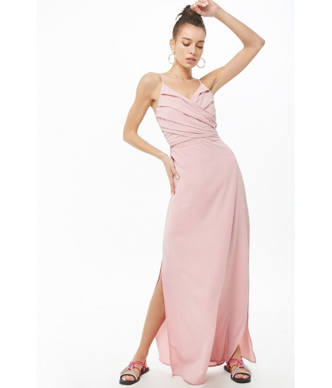 Imbracaminte Femei Forever21 Pleated M-Slit Gown BLUSH