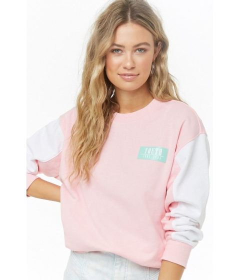 Imbracaminte Femei Forever21 Youth 1980s Graphic Sweatshirt PINKGREEN