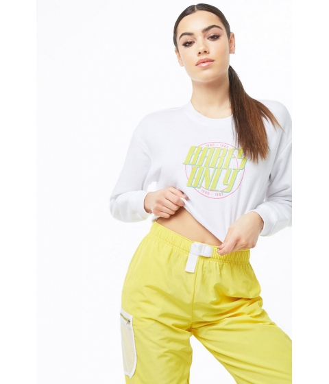 Imbracaminte Femei Forever21 Babes Only Graphic Crop Top WHITELIME