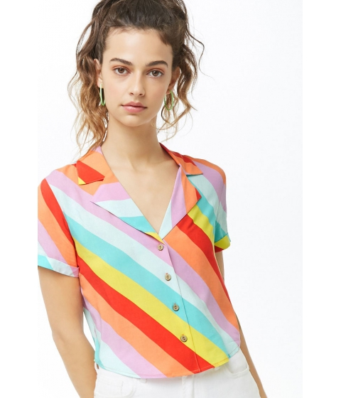 Imbracaminte Femei Forever21 Multicolored Striped Shirt REDMULTI