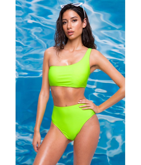 Imbracaminte Femei CheapChic Neon Royale One Shoulder Top Neon Lime