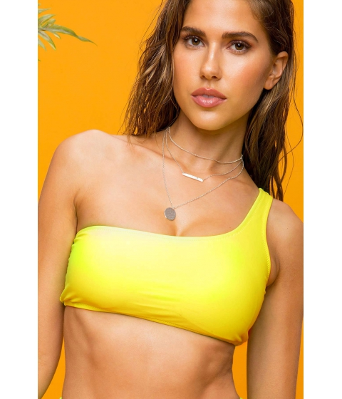 Imbracaminte Femei CheapChic Neon Royale One Shoulder Top Neon Yellow