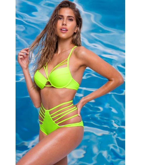 Imbracaminte Femei CheapChic Neon Aura Cut Out Bottom Neon Yellow