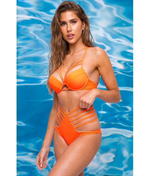 Imbracaminte Femei CheapChic Neon Aura Cut Out Bottom Neon Orange
