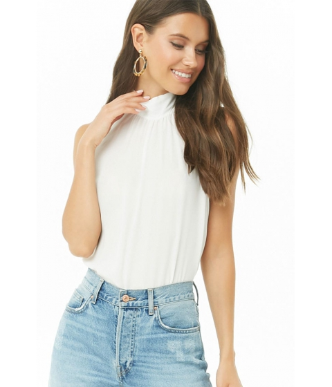 Imbracaminte Femei Forever21 Mock Neck High-Low Top IVORY