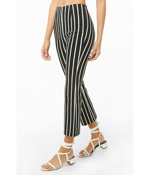 Imbracaminte Femei Forever21 Striped Straight-Leg Ankle Pants BLACKIVORY