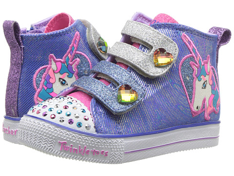 Incaltaminte Fete SKECHERS Twinkle Toes - Shuffle Lite 10995N Lights (ToddlerLittle Kid) BlueMulti