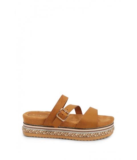 Incaltaminte Femei Forever21 Embellished Platform Espadrille Sandals TAN