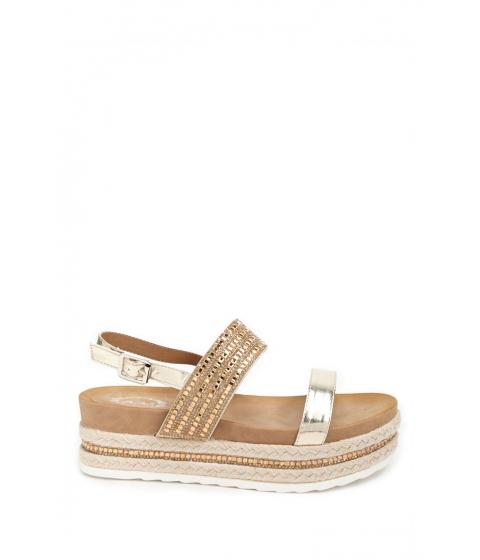 Incaltaminte Femei Forever21 Beaded Espadrille Platform Sandals GOLD