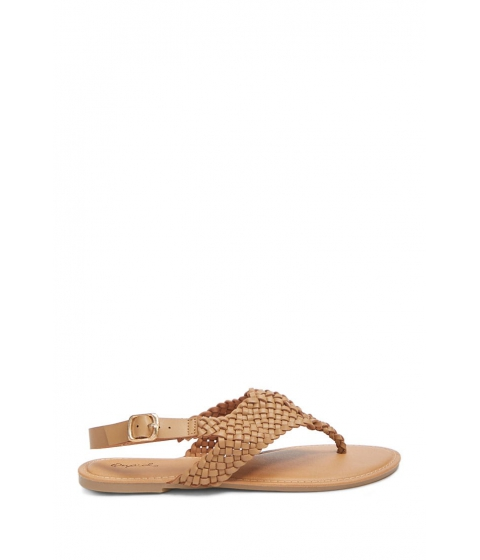 Incaltaminte Femei Forever21 Basketweave Thong Sandals TAUPE