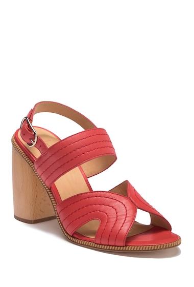 Incaltaminte Femei Joie Aforleen Leather Slingback Strap Heeled Sandal RED