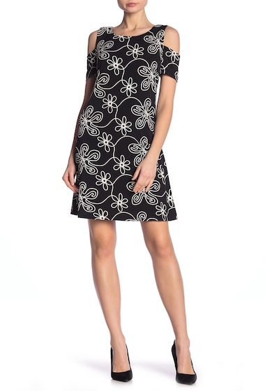 Imbracaminte Femei Robbie Bee Floral Cold Shoulder Dress BLACKIVOR