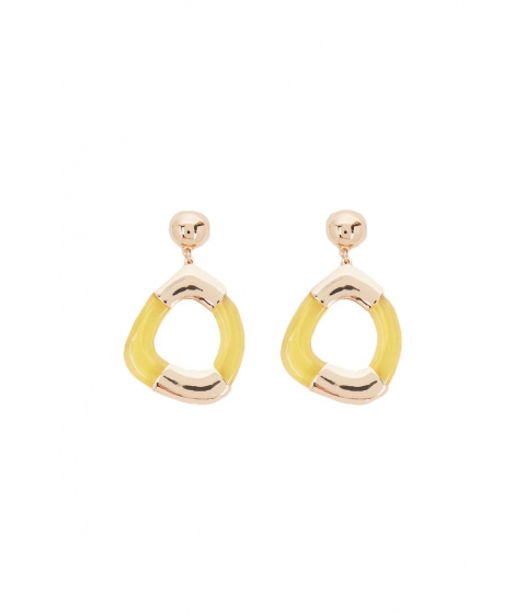 Bijuterii Femei Forever21 Geo Drop Earrings GOLDYELLOW
