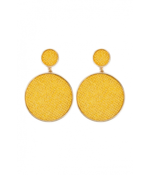 Bijuterii Femei Forever21 Basketweave Drop Earrings YELLOW
