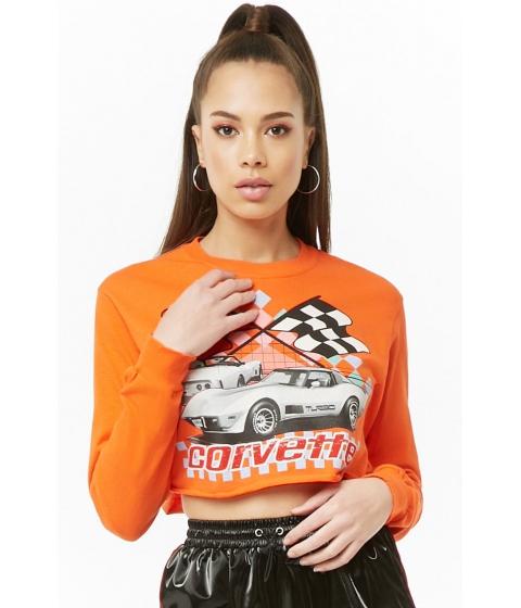 Imbracaminte Femei Forever21 Corvette Crop Top ORANGEMULTI
