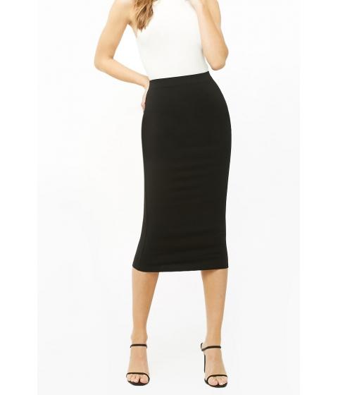 Imbracaminte Femei Forever21 Bodycon Midi Skirt BLACK