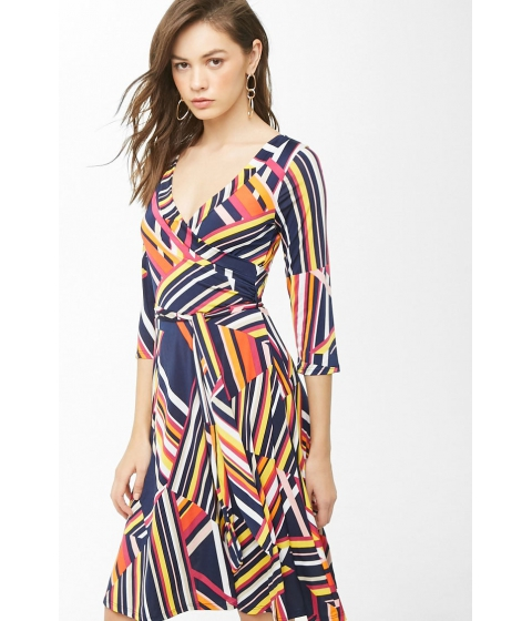 Imbracaminte Femei Forever21 Abstract Geo Print Dress NAVYMULTI
