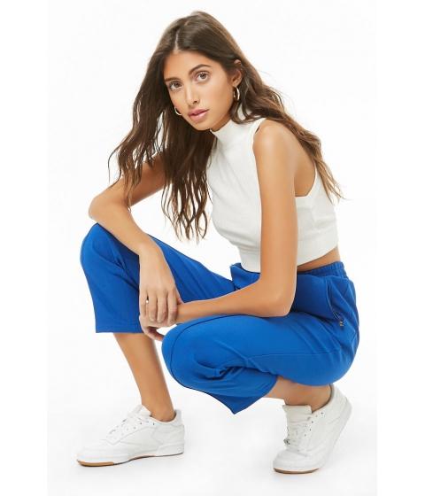 Imbracaminte Femei Forever21 High-Waist Straight Leg Pants COBALT