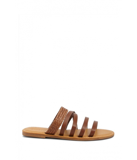 Incaltaminte Femei Forever21 Faux Leather Sandals CHESTNUT