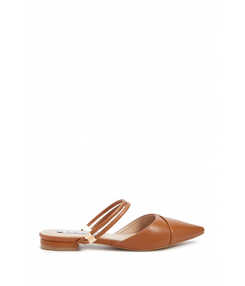 Incaltaminte Femei Forever21 Faux Leather Strappy Pointed Mules BROWN