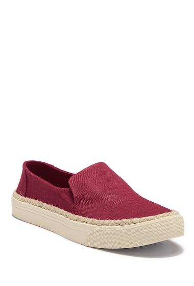 Incaltaminte Femei TOMS Sunset Platform Slip-On Sneaker DARK RED
