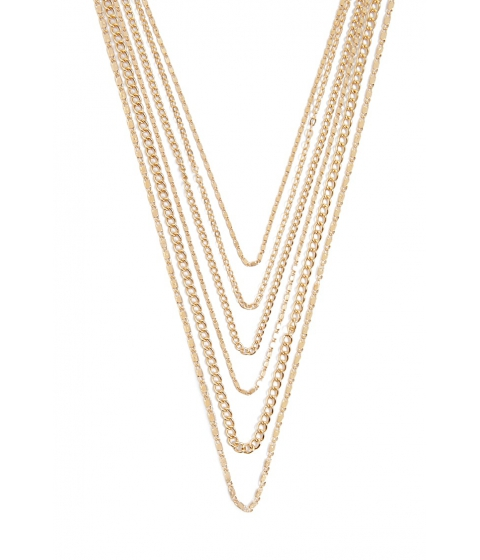 Bijuterii Femei Forever21 Layered Chain Necklace GOLD