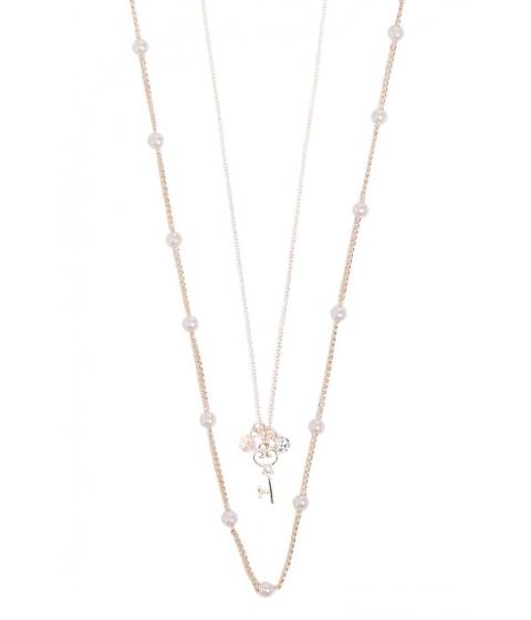 Bijuterii Femei Forever21 Key Pendant Chain Necklace Set ROSE GOLD