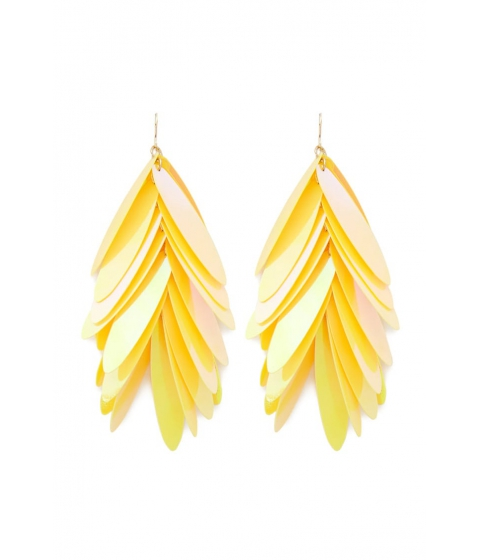 Bijuterii Femei Forever21 Tiered Sequin Drop Earrings YELLOW