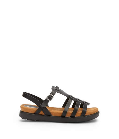 Incaltaminte Femei Forever21 Caged Faux Leather Sandals BLACK