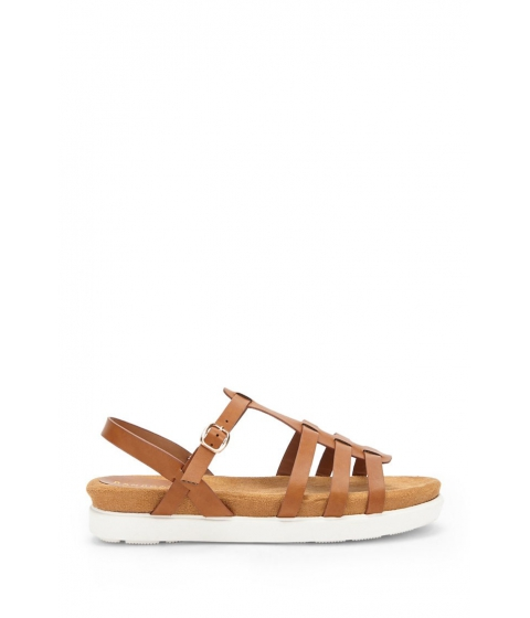 Incaltaminte Femei Forever21 Caged Faux Leather Sandals TAN