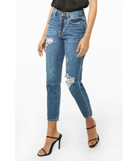 Imbracaminte Femei Forever21 High-Rise Distressed Jeans DENIM