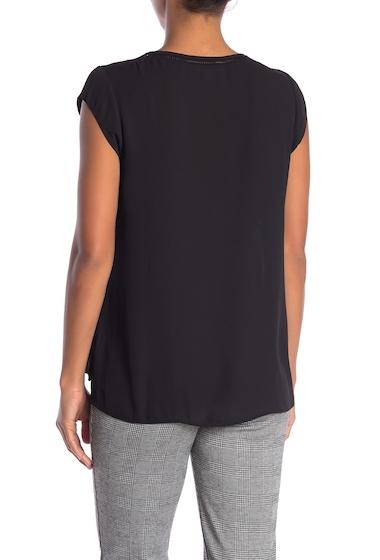 Imbracaminte Femei DR2 by Daniel Rainn Ladder Stitch Short Sleeve Blouse BLACK