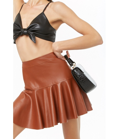 Imbracaminte Femei Forever21 Faux Leather Mini Skirt BROWN