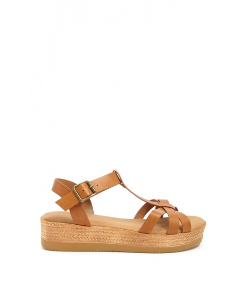Incaltaminte Femei Forever21 Strappy Espadrille Wedges TAN
