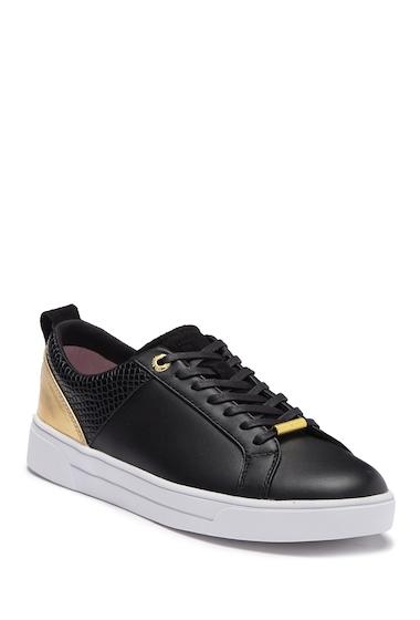 Incaltaminte Femei Ted Baker London Kulei Leather Sneaker BLACKROSE GOLD