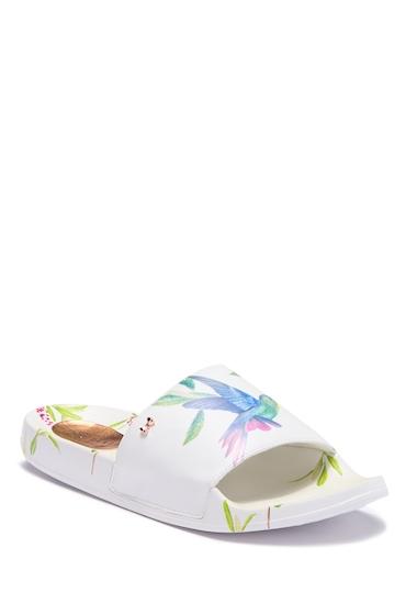 Incaltaminte Femei Ted Baker London Aveline Printed Slide Sandal HUMMINGBIRD