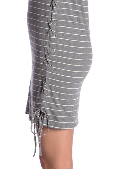 Imbracaminte Femei C C California Scoop Neck Lace-Up Dress GREYWHITE