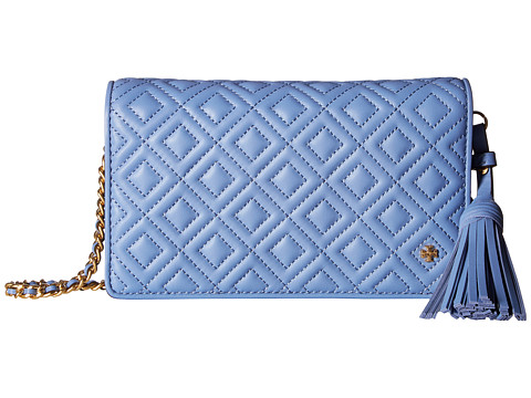 Genti Femei Tory Burch Fleming Flat Wallet Crossbody Larkspur