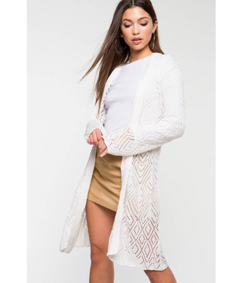Imbracaminte Femei CheapChic Crochet Spring Duster Ivory
