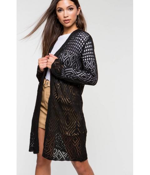 Imbracaminte Femei CheapChic Crochet Spring Duster Black