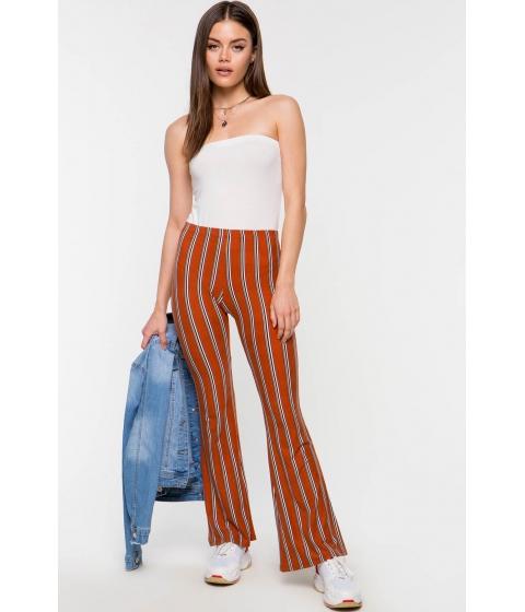 Imbracaminte Femei CheapChic Remy Stripe Knit Flare Pant Orange Pattern