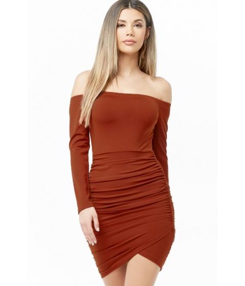 Imbracaminte Femei Forever21 Off-the-Shoulder Mini Dress BRICK