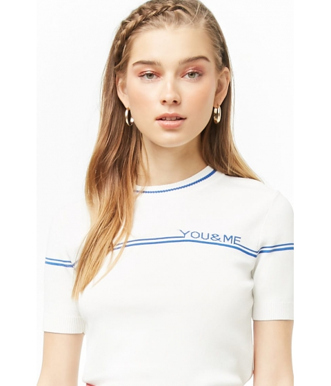 Imbracaminte Femei Forever21 You Me Graphic Top CREAMBLUE
