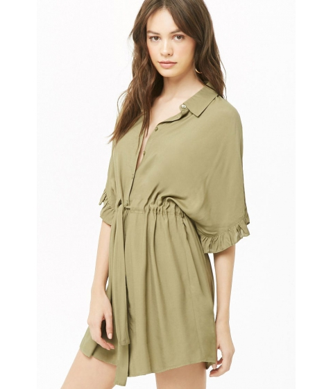 Imbracaminte Femei Forever21 Belted Shirt Dress LIGHT OLIVE