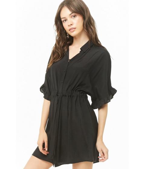 Imbracaminte Femei Forever21 Belted Shirt Dress BLACK